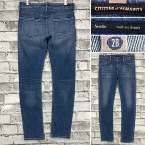Citizens of Humanity Arielle Mid Rise Skinny Womens 28 x 31 Stretch Denim Jeans